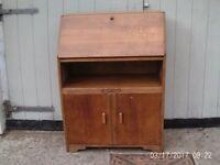 Oak bureau/cabinet