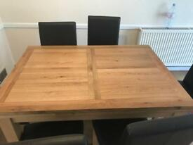 New table + chairs
