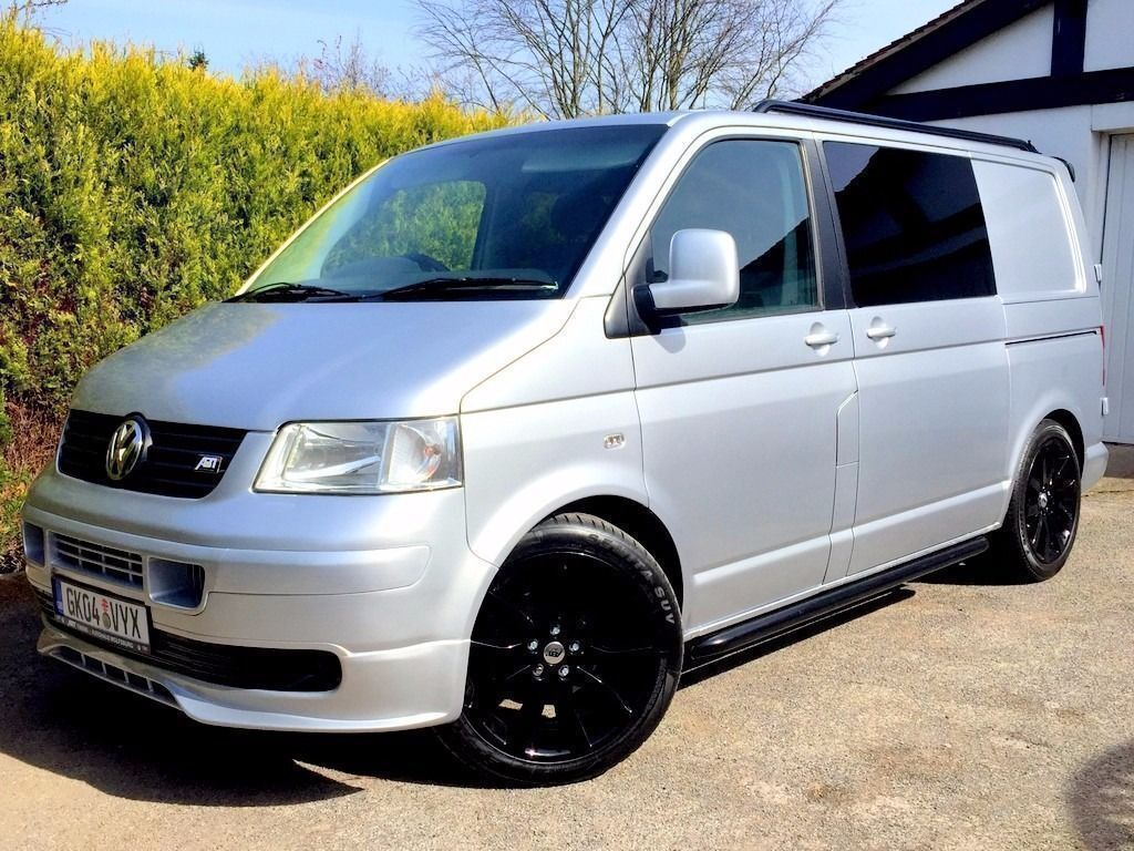 fsh vw t5 volkswagen transporter 105 tdi silver black. Black Bedroom Furniture Sets. Home Design Ideas