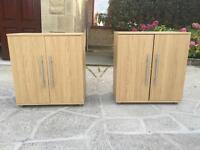 Two storage cabinets for bathroom or entrance shoe holder