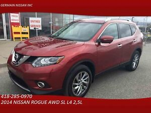 2014 NISSAN ROGUE AWD SL -CUIR-GPS-TOIT PANORAMIQUE-CLIENT MAISO