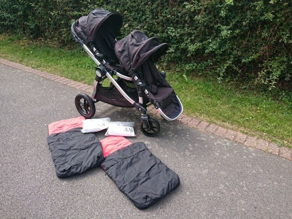 Baby Jogger City Select Double Tandem Buggy Black Stroller In Worcester Worcestershire Gumtree