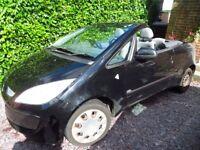 Mitsubishi Colt CZC1 Convertible 1499cc - Petrol Engine - Black (Needs window regulator replaced)