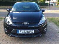 Immaculate Ford Fiesta 1.4 TDCi DPF, Black, Manual, 3 doors, Full Ford Service History, HPI Clear