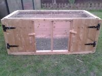 Rabbit or guinea pig hutch as new