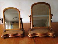 Pair of Victorian Vintage Retro Mahogany Dressing table mirrors