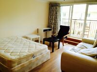 Spacious Double Room Available For Couples. Room has a Private Balcony. All Bills Included