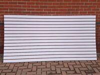 Grey slatwall panels 2400mm x 1200mm / 8X4 Brand new for quick sale