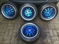 15 Inch Dished Alloys With Nankangs 195 45 15 VW 4x100 Fitment Polo vw Lupo Golf Caddy