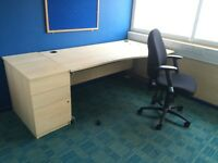 Desk, Chair and Pedestal Available - Lot Purchase