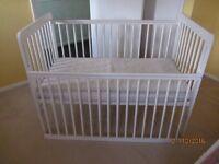 John Lewis white baby cot