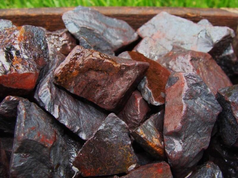 3000 Carat Lots of Unsearched Natural Hematite Rough + a FREE Faceted Gemstone