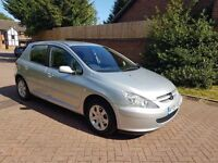 2005 Peugeot 307 1.6 low milage only 60,000 miles