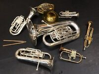 BRASS TRAINING BAND for all brass instruments, all ages, standards, instruments.