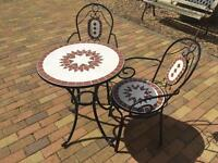Mosaic Table and 2 chairs