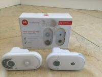 Motorola MBP8 Digital Wireless Audio Baby Monitor Speaker Plug N Go Up To 50M - White