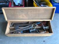 Old boxes of old tools
