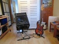 Vintage Bass Guitar, Carlsbro Amplifier and Accessories