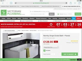 New in box bath with panels - bargain!