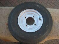 New /unused 4.00/480-8 trailer wheel for Erde 122/Daxara 127 trailers