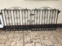 Strong Good Quality Wrought Iron Gates, fit approx 91.5 inch drive