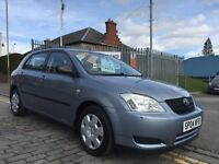 TOYOTA COROLLA 1.4 T2 VVTI,04 PLATE 2004...48,000 MILES !!!...F.S.H..ULTRA RELIABLE 1.4 ECO HATCH