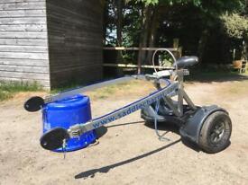 Saddlechariot horse exercise cart