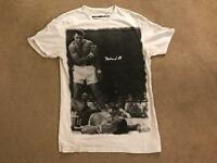 Men's White Muhammad Ali T-Shirt - Large