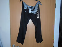 LADIES RIVER ISLAND BLACK TROUSERS, BRAND NEW, SIZE 14 with LABELS + OTHER LADIES CLOTHING