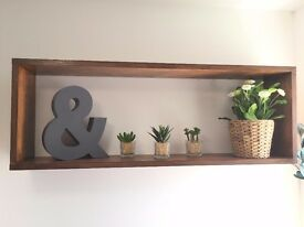 Modern wall shelf - walnut effect