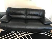 Harveys leather 3 piece sofa