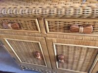 Basket style cupboard with 2 doors. Excellent cond. Comes with internal removable wine rack. £40 ONO