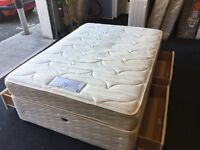 Very clean Seally double divan set (FREE DELIVERY)
