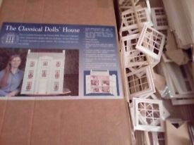 Dolls house kit, Georgian house, partly assembled. All parts and instructions.