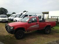 1992 TOYOTA HILUX 4X4 SINGLE CAB PICK UP DIESEL 1 OWNER FOR THE LAST 21YEARS MECHANICAL EXCELLENT