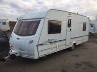 Lunar Lexon es 2004 fixed bed awning 4 berth end shower room with separate toilet and shower alko
