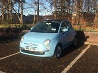 2014 Fiat 500 1.2 Lounge 3DR Blue [Start/Stop] Manual, Alloys, Bluetooth Sound System & Sun Roof