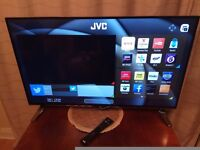 Brand New 43'' JVC Ultra HD Led Smart TV remote and stand inc