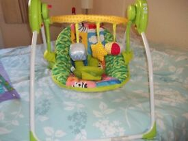Baby swing, bouncer and activity mat