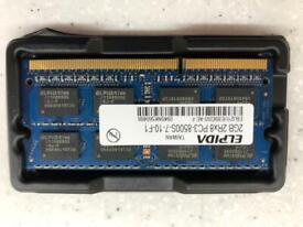 4Gb (2x2Gb) SODIMM DDR3 1066 Notebook/Laptop Memory