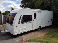 Caravan Lunar Clubman TI 2013 Fixed bed end wash room