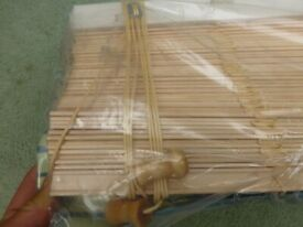 NEW VENETIAN BLINDS - 106cm x 106cm drop - pine effect