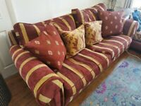 Duresta Belvedere 3 seater sofa with scatter cushions