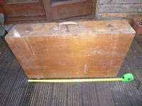Vintage Carpenter's Tool Box / Chest with Vintage Tools