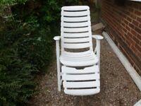 Folding garden chair and lounger