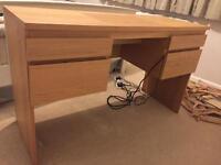 Ikea Dressing table with mirror RANSBY Oak veneer
