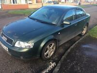 2001 AUDI A4 1.9 TDI SE 130 BHP DIESEL FULL SPEC GOOD SOLID ENGINE SPARE OR REPAIR NOT A6 A3
