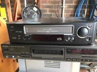 Technics compact disc player & Philips video longplayer