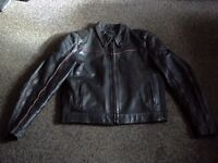 MOTORCYCLE LEATHER JACKET & LEATHER TROUSERS £50.00