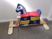 lovely solid pine first rocking horse